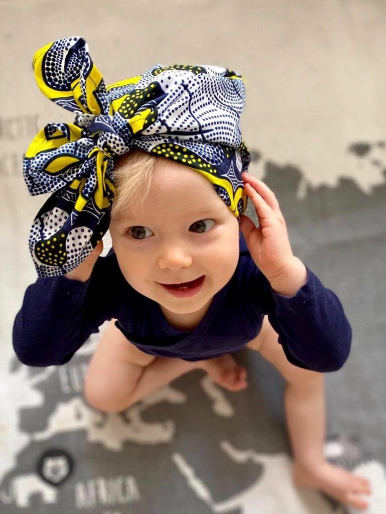 afrykański turbanik dla dzieci mini Durban