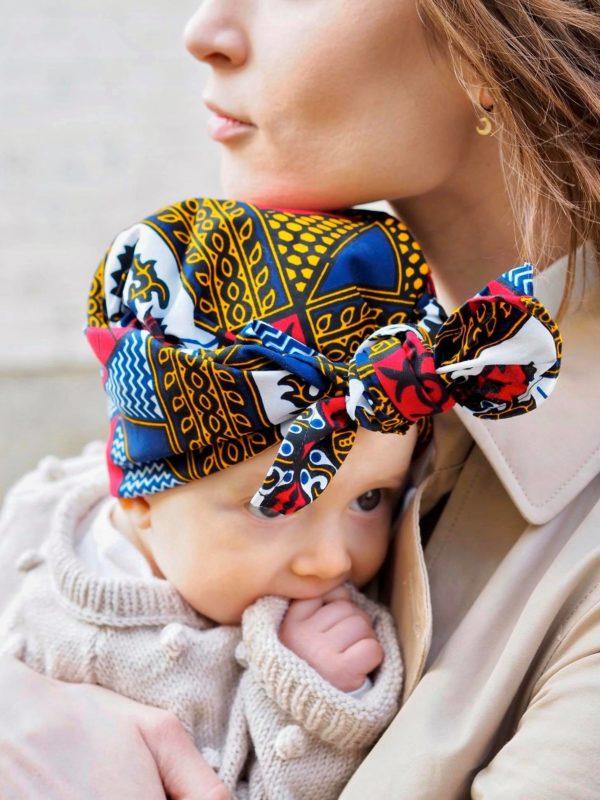 afrykański turbanik dla dzieci mini Lagos