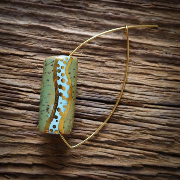 GOLD FLASH tube afrykańskie kolczyki KAZURI