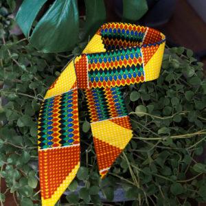 Afrykańska szarfa Kente Yellow - Zebra Store