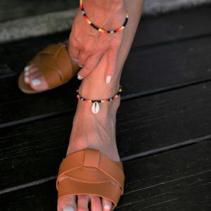 Kolorowa afrykańska bransoletka na kostkę REEF z Namibii
